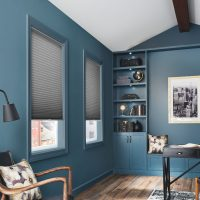 "3/4"" Single Cell Cellular Shades with Cordless Lift: Valletta, Crisp Carbon 0643"