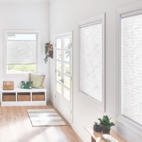 "1"" Bottom Up/Top Down Pleated Shades with Cordless Lift: Imperial, Tropical White 4163"