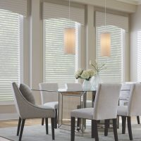 White Shades with Valence as Window Treatments by Pinnacle Custom Window Coverings