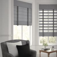 Gray Sheer Shades as Window Treatments