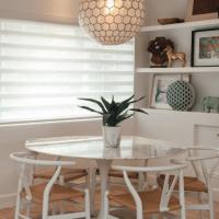 White Sheer Shades as Window Treatments by Pinnacle Custom Window Coverings